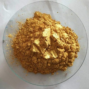 Pearlescent gold pigment/mica powder for cosmetic black pearl powder