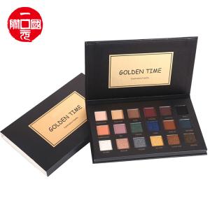 Private Label Make Up 2021 new 18 color eyeshadow palette golden time (black)