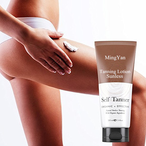 Private label self tanning sunless tanning lotion with gloves