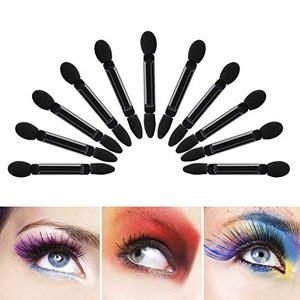 Professional Double Head Eyeshadow Brushes Cosmetic Tool 50 Pcs Disposable Dual Sides Eyeshadow Sponge Brushes Makeup Applicator
