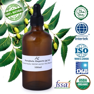 Pure and Naturally proven healthy Neem carrier oil