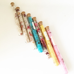 10g scented dried flowers bath salts in glass tube