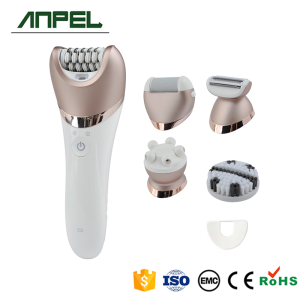 5 in 1 rechargeable lady shaver,facial massager,epilator,face brush and callus remover