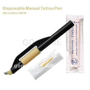 Disposable manual tattoo pen