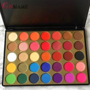 New arrival eyeshadow palette 35 color custom high pigment palette eyeshadow