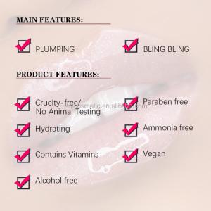 S14 Vegan Cosmetics  wholesale glossy shimmer lip gloss holographic lip gloss