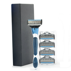Wholesale OEM Men 5 Blade Shaving Safety Razor With Free Blades