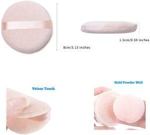 10 Pieces Facial Face Makeup Foundation Sponge Cosmetic Pure cotton Powder puff