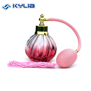 Classical Fashion Color fabric Air Gas Pump bulb spray atomizer,100ml glass perfume bottle,Empty Perfumes Bottle