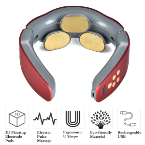 Dropshipping Portable Wireless Pain Relief Tool Cervical Electronic Pulse Neck Massager