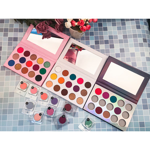 Hot wholesale cosmetic 15 color eyeshadow palette liquid high pigment private label eye shadow