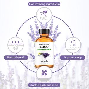 Massage Oil Private Label Custom OEM/ODM Organic Lavender Essential Oil