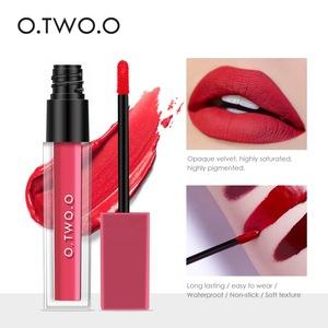 O.TWO.O 2019 hot sale high pigmented matte lip gloss non stick cup liquid lipstick