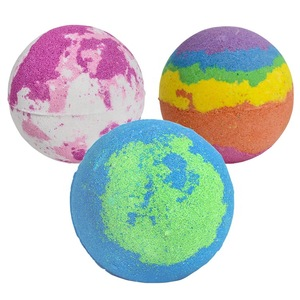 Wholesale Bubble Foaming Rose Strawberry Bath Bombs Floral Scent Handmade Bath Packaging Bath Fizzies for Kid