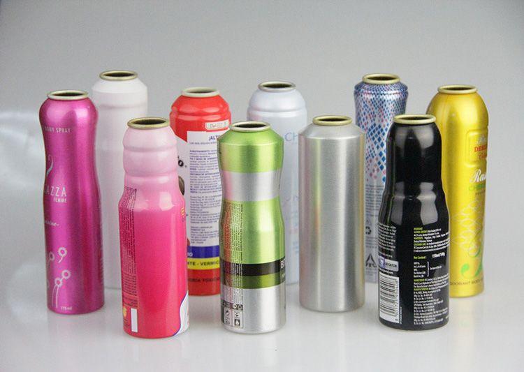 Custom empty aluminum aerosol spray can