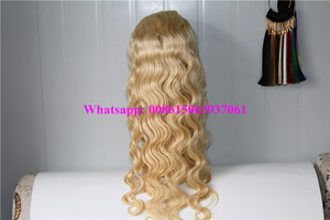 24inch Brazilian Virgin Hair body wave 613# blonde full lace wig