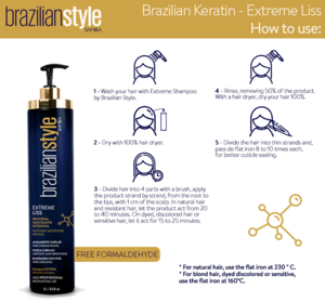 Extreme Liss Best Professional Use Brazilian Keratin Hair Shampoo & Liss