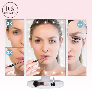 Factory Led Lights ABS Makeup Mirror Vanity Lighted Makeup Mirror with Touch Screen