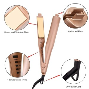 Hot Selling 2018 Amazon Hair Flat Iron Rose Gold Hair Straightener 2 in 1 Hair Curling Iron