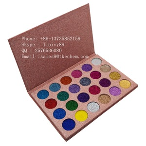 Makeup 24 colors no logo cosmetic glitter eyeshadow palette