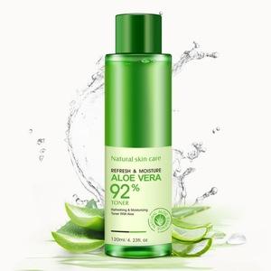 OEM Natural Aloe Vera Gel Toner Essence Face Skin Care Moist Hydrating Vitamin C Gel Whitening Skin Toner 120ml