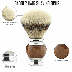 Stunning Silver tip Badger Shaving Brush Hand-Crafted Mens Grooming