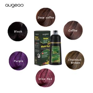 Wholesale MEIDU Brands Ammonia Free Manufacturer Private Label Dark Brown Natural Black Hair Color Shampoo in Hair Dye