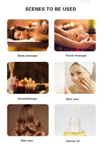 120ml Private Label 100% Pure Natural Skin Care Body Massager Multi Use Oil Series Rose/Rosemary/Neroli/Eucalyptus/Lavender Oil