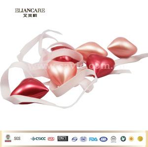 5g*6pcs HEART SHAPE BATH BEADS WITH CUSTOM CARDBOARD PVC BOX