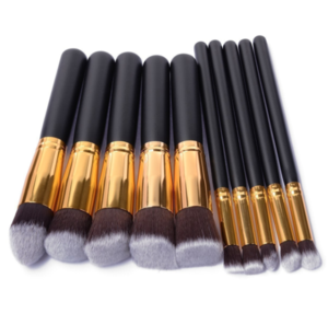 Best selling products high quality private label cosmetic makeup brushes 10 pcs professional makeup brush set