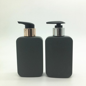 Black 200ml Plastic HDPE liquid lotion shampoo face gel bottle with pump dispenser packaging cosmetics