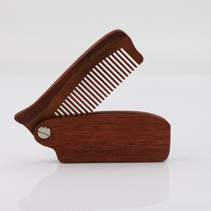 Customized folding beard comb wholesale wood comb | BeauteTrade