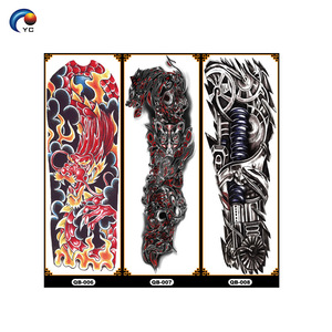 Full arm body tattoo sticker with vary designs