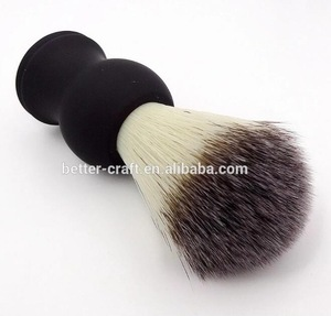 Man bristles synthetic shaving brush