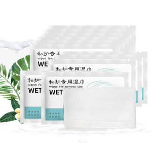 Private label yoni intimate wipes for women organic feminine vaginal wet toilet paper single packets