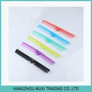 Wholesale retail cheap folding pocket comb switch plastic comb from factory