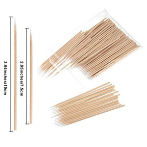 Wooden Cotton Tip Tattoo Supplies Cotton Buds Swabs Makeup Cosmetic Applicator Sticks