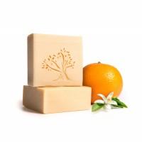 Le Joyau d'Olive - Luxury Pure Olive Oil Soap - Natural Handmade Bar for Face & Body - 1-Pack – Orange Blossom bath bar