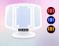 Sain Portable Photon Therapy Beauty Device and Cosmetic Mirror with LED Light for Facial Skin Rejuvenation
