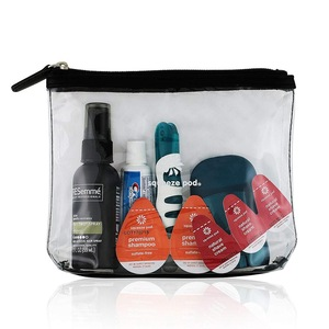 Cosmetic/ Makeup/ Toiletry Clear PVC Travel Wash Bag with handle