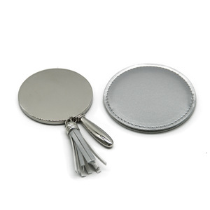 Custom logo hand held metal cosmetic mirror portable mini makeup mirror for promotional gift