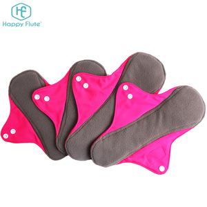 Happyflute sanitary napkin reusable Menstrual cloth Sanitary Pads for Women reusable menstrual pads