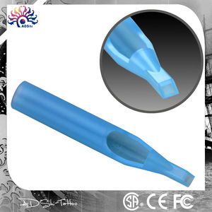 High quality Disposable Blue Tattoo Tip & Tube, 50pcs sterilized round flat tattoo tips