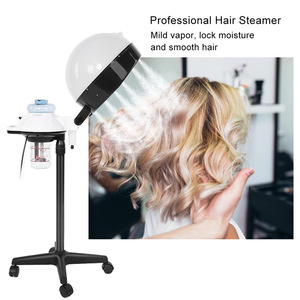 High Quality Wholesale Salon Spa Hair Steamer Rolling Stand Hooded Hair Coloring Perming Conditioning Hair Steamer Salon Machine