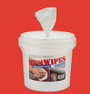OEM service gym cleaning wet wipes in big tube packing