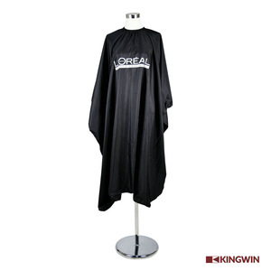 Polyester Waterproof customized Black Hairdressing Salon Cape apron