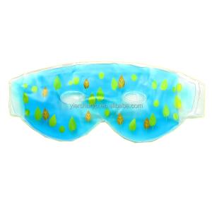 Pvc Soft Plastic Gel Beads Hot Cold Eye Compress Eye Ice Pack Glitter With Fleece Cover/flush Eye Ice Pack