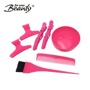 Salon tools 3pcs dyeing brush set + coloring bowl salon tint equipment