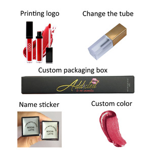 Wholesale lip gloss makeup kit set box cosmetics long-lasting waterproof private label custom liquid matte cosmetic lipstick