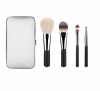 4pcs Travel Brush Set Makeup Brush with Wallet Box